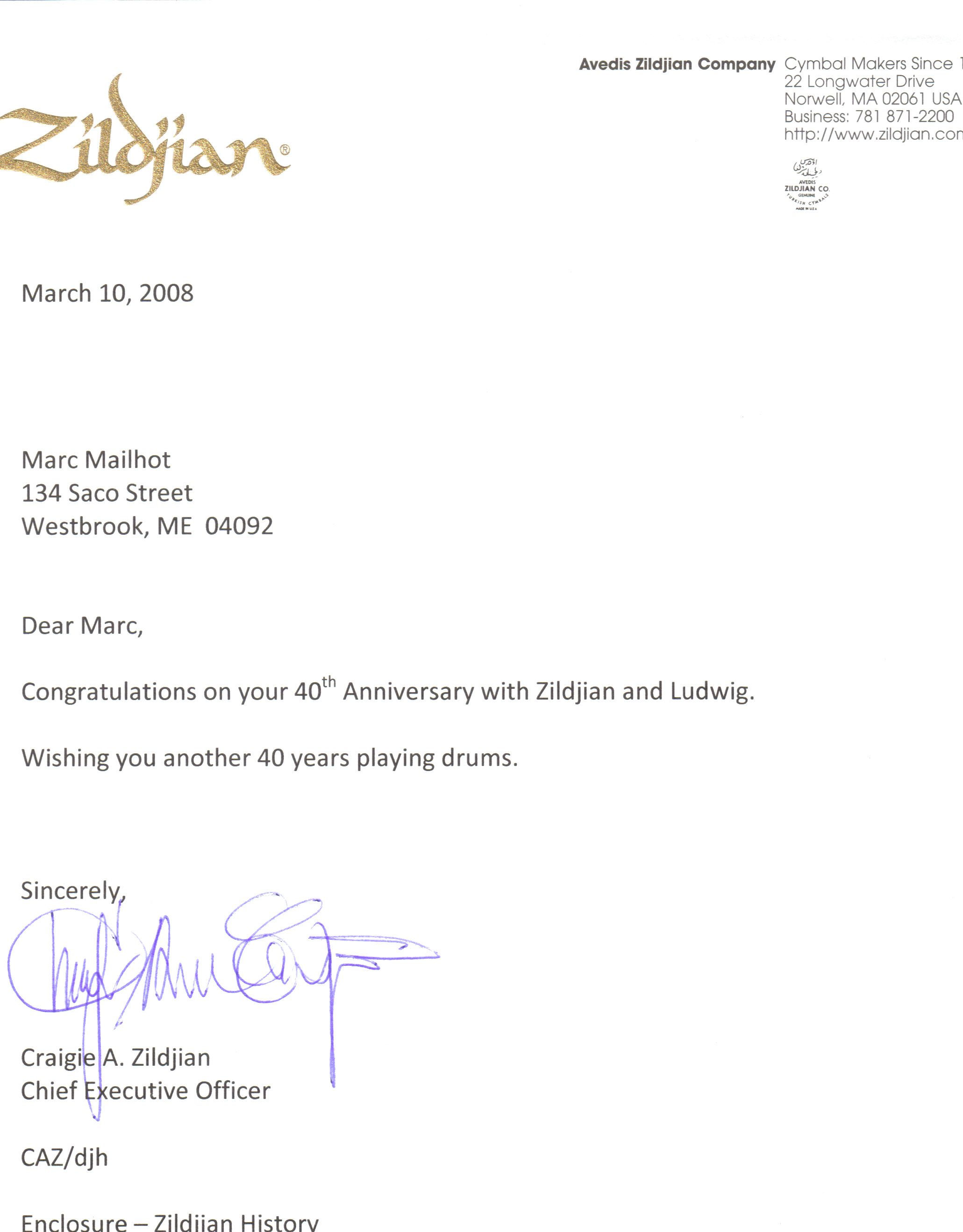 Business anniversary congratulations letter docoments